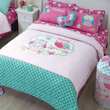Pink And Blue Girls Bedding by Girls Owl Bedding Ebay