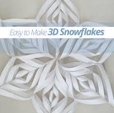 easy to make 3d snowflakes