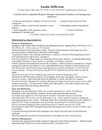 materials manager resume assistant property manager resume sample jennywashere com