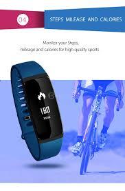v07 rate blood pressure monitor smart bracelet