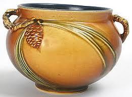 Roseville Pinecone Vase Roseville Art Pottery Planter Bowl In
