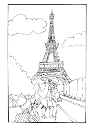 french halloween printables eiffel tower coloring page getcoloringpages com