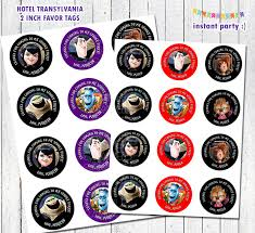 hotel transylvania favor tags 2 inch birthday by instantparty