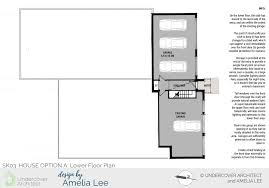 fix your floor plan archives design by amelia lee option a lower floor plan arranges the entry to maintain some structural support under the existing roof corner storage is provided downstairs