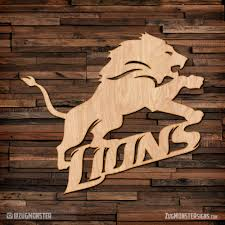Detroit Lions Home Decor by Detroit Lions 1 Wood Sign Zug Monster Signs Signage Metal