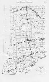 Map Indiana 1917 Indiana State Highway Map And State Highway Commission