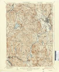 Manchester Vt Map New Hampshire Topographic Maps Perry Castañeda Map Collection