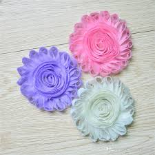 hair chiffon grosgrain ribbon flower hair band applique headwear spark chiffon