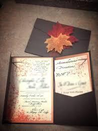 pocket invites autumn wedding invitation rectangle potrait black pocket