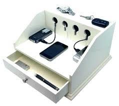 Contemporary Desk Organizers Desktop Charging Station Organizer Bamboo Charging Station