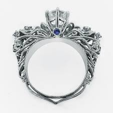 sterling engagement rings images Luxury retro baroque style 925 sterling silver engagement ring jpg