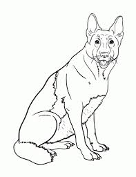 german shepherd coloring pages coloringsuite com