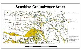 Kansas State Map by Kansas Corporation Commission Sensitive Groundwater Areas