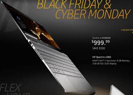 best black friday deals on i7 laptops hp black friday hp spectre x360 laptop intel i7 8gb ram 256gb