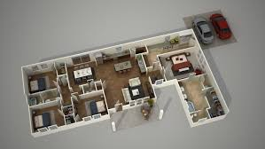 how to create a 3d architecture floor plan rendering ground