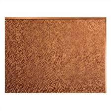 Fasade Backsplash Panels Reviews by Fasade 24 In X 18 In Hammered Pvc Decorative Backsplash Panel In