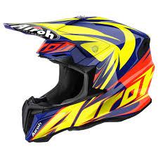 red motocross helmet airoh twist evil helmet