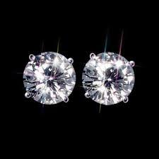 moissanite earrings moissanite stud earrings 1 2 carat