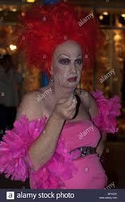 man in drag west hollywood halloween carnaval los angeles stock