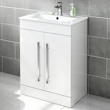 Mm Avon Gloss White Floor Standing Basin Cabinet Soakcom - Bathroom basin and cabinet