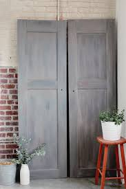 creating the look of vintage gray barn wood doors u2014 a simpler