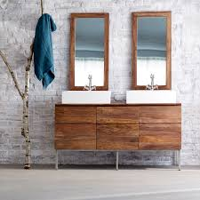 Solid Wood Washstand Bathroom Washstand Tikamoon - Solid wood bathroom vanity uk