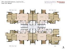 Floor Layout Plan Mahindra Windchimes Floor Plans Bannerghatta Road Bangalore