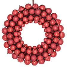 home accents 20 in shatterproof ornament wreath in b