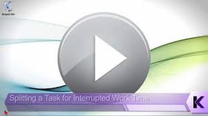 microsoft office project 2013 tutorial splitting a task for