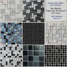silver glass mosaic tiles ebay
