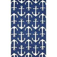 Navy Bath Mat Themed Bathroom Rugs Bath Rug Plush Memory Foam Anti