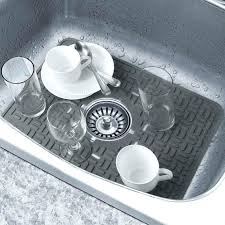 Kitchen Magnificent Dish Drainer Sink Protector Mat Kitchen Sink by Articles With Vinyl Tile Under Kitchen Sink Tag Tiled Kitchen