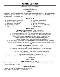 sample resume of store manager sales manager example cover letter