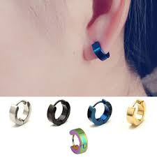 cool ear rings 2pc cool stainless steel hoop ear studs men women s pierced