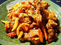cuisine cor馥nne recette 돼지불고기 barbecue de porc ou porc mariné piquant madame choi