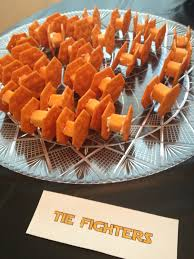 wars party wars party snacks tie fighters cheese cheese and