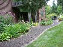 garden walkway ideas fascinating garden and gravel pathway idea in frontyard
