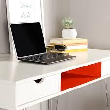 color accent computer desk orange by walker edison