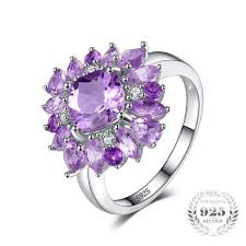 silver amethyst rings images Natural purple amethyst ring 925 sterling silver fine jewelry jefamo jpg