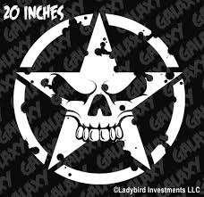 jeep army decals military jeep army star circle skull hood decal usmc willys