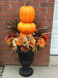 outdoor thanksgiving decorations ideas simple outdoor urns fall decor autumn pinterest fall