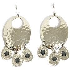 Black Bead Earrings Bronze Chandelier Custom Jewelry Design Ca The Urban Charm Silver Oval Regarding