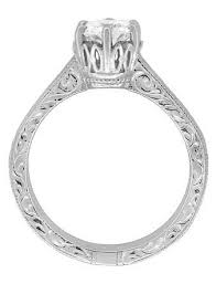 art deco sterling silver white topaz solitaire ring vintage