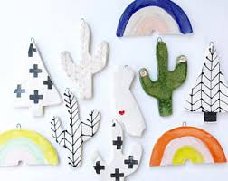 ceramic ornaments etsy