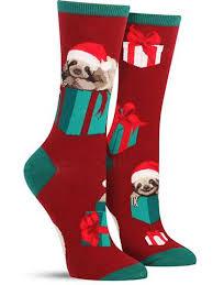 christmas socks christmas sloth socks for women