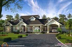 one colonial house plans single floor colonial mix house kerala home design house plans