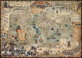 the age of pirates map poster by rayworld co bella terra maps