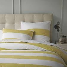 Yellow And White Duvet Stripe Shams White Citron West Elm
