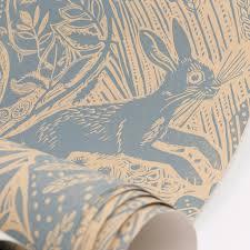 Hand Printed Wallpaper by Harvest Hare U0027 Wallpaper By Mark Hearld This Design Originates