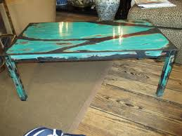 coffee table cool turquoise coffee table designs turquoise side